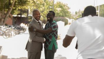 Chancellor Gary May does photographs with the young African leaders of the Mandella Fellowship after he spoke with them about his life and challenges during a meeting of the Mandela Fellows on July 28, 2017 at the International Student Center. This is one of the last gatherings of the Washington Mandela Washington Fellows in Davis before they return to Washington D.C.