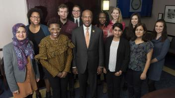 Chancellor May meets with the Graduate & Professional Student Advisory Board on Monday, February 5th.
