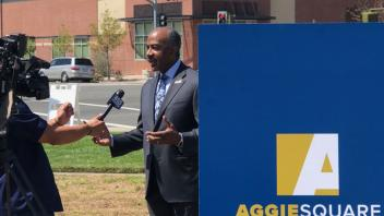 Chancellor May answer questions about the Aggie Square announcement.