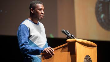 Gary Grice, known by the stage name GZA a.k.a. The Genius was the speaker at the Chancellor's Colloquium in Jackson Hall at the Mondavi Center on May 21, 2018.