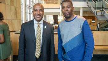 Chancellor May with GZA