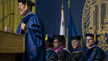 UC Davis Provost Ralph J. Hexter at commencement