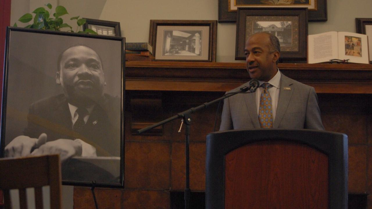 Chancellor May speaks about Martin Luther King Jr.