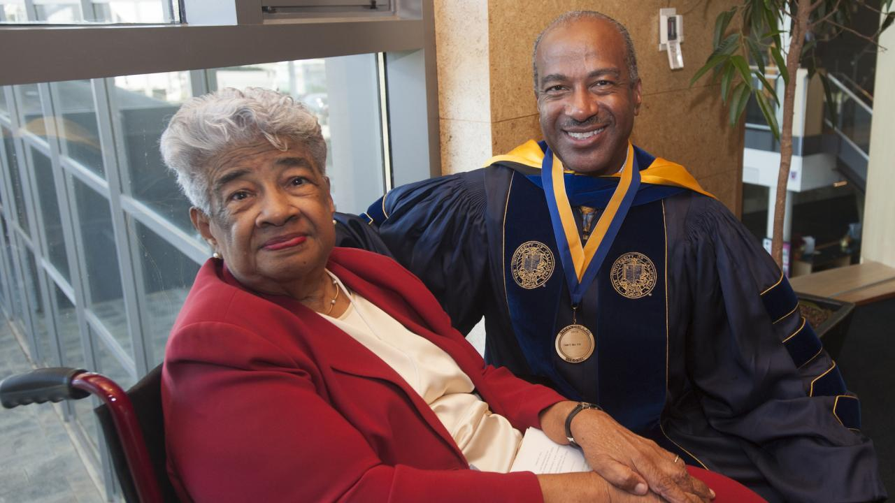 Chancellor Gary with his mother Gloria May