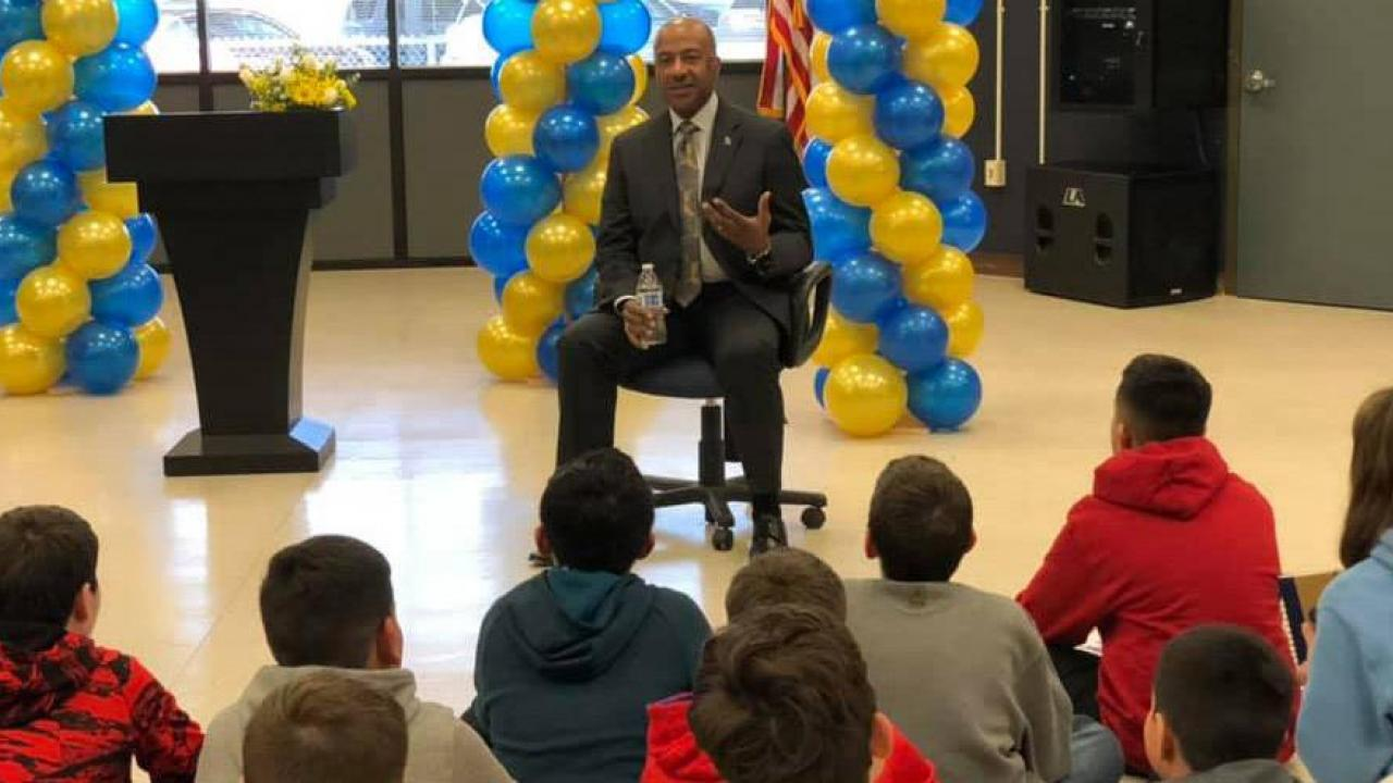 Chancellor May visits Zamora Elementary