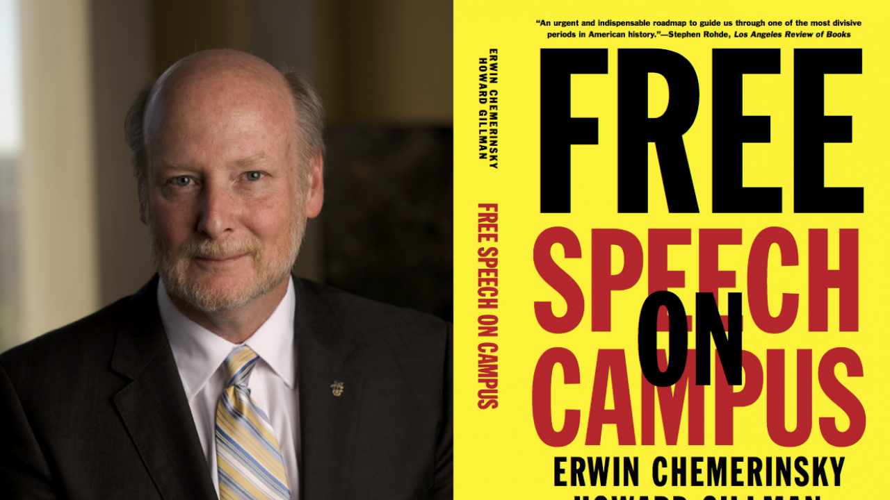 Howard Gillman promotes his new book Free Speech on Campus