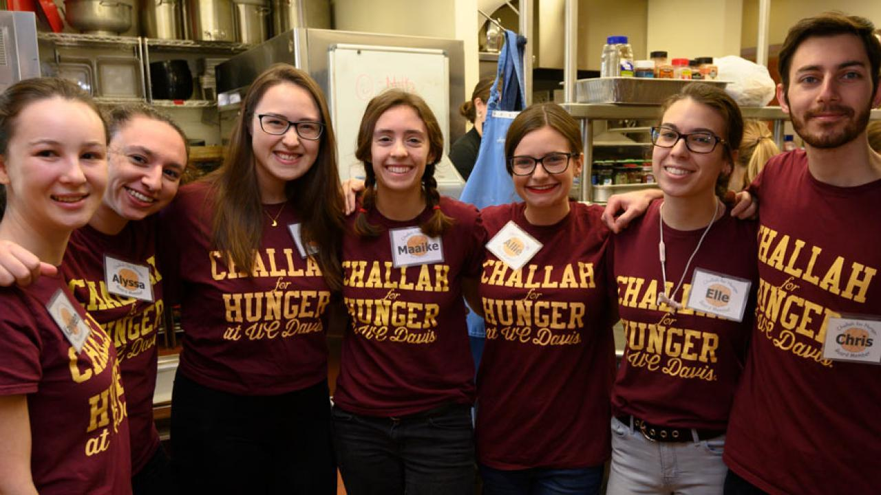 Challah for Hunger students pose.