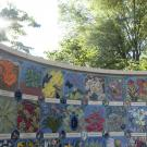 public art on the UC Davis arboretum wall