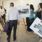 People touring new Aggie Square space