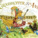 illustrated image of the grasshopper and the ant